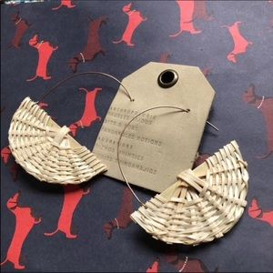NWT Anthropologie Rattan Hook Earrings